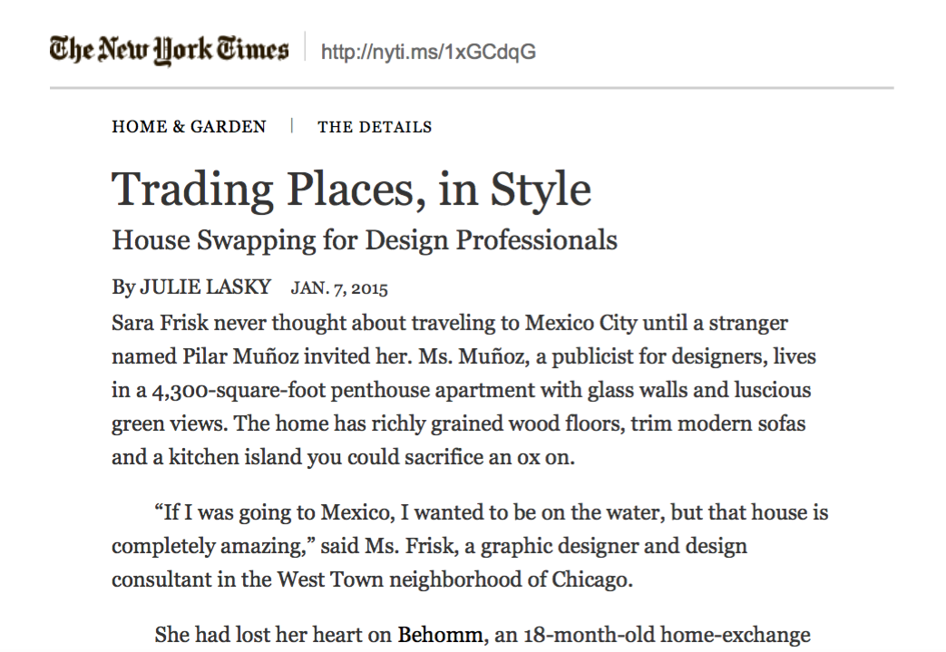 New York Times NYT article on 5 columns