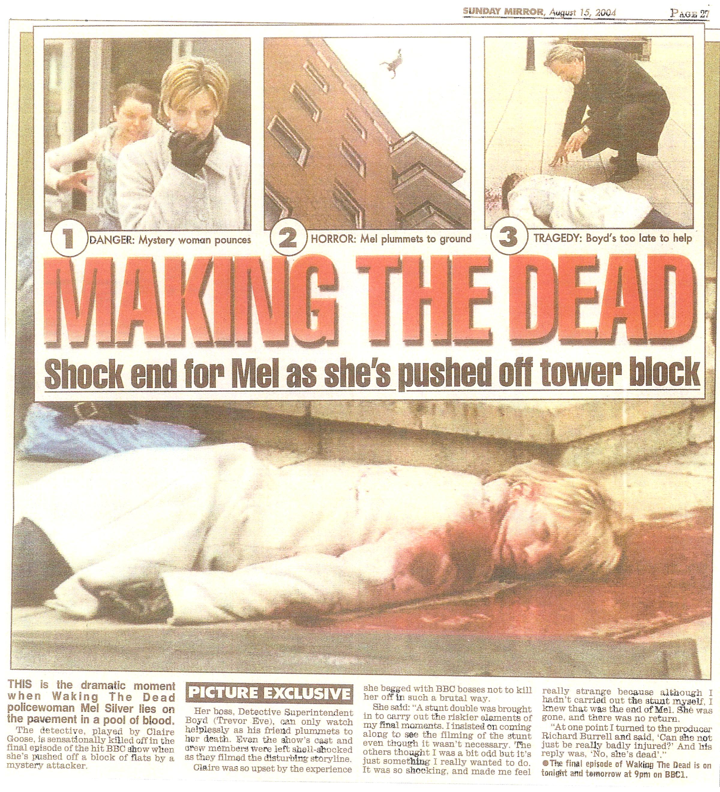 Waking The Dead High Fall Daily Mirror.jpg