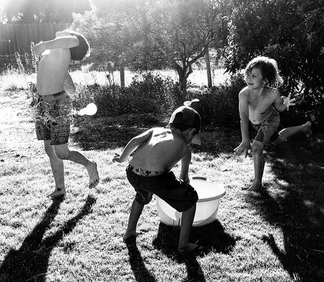 Summer water fun #1  #ShotoniPhone #TheBlackandWhiteSeries #SPiCollective #fineartphotography #streetphoto_bw #streetphotography #bnw_magazine #outofthephone #bnw_demand #lifewithboys #motherofboys