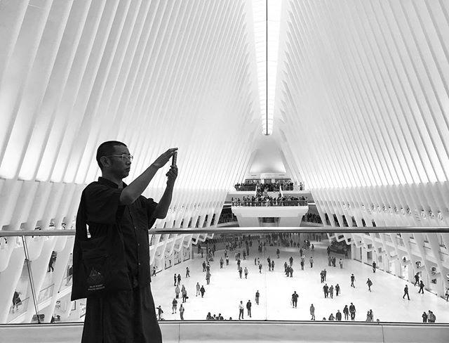 Everyone loves a photo!  #ShotoniPhone #TheBlackandWhiteSeries #SPiCollective #ig_streetphotography #fineartphotography #streetphoto_bw #streetphotography #bnw_magazine #outofthephone #bnw_demand #theoculusnyc #oculus #newyorkcity