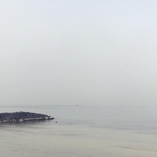 Can barely see the horizon.  #beach #elwood #elwoodbeach #art #shotoniphone #iphoneonly #calm #still
