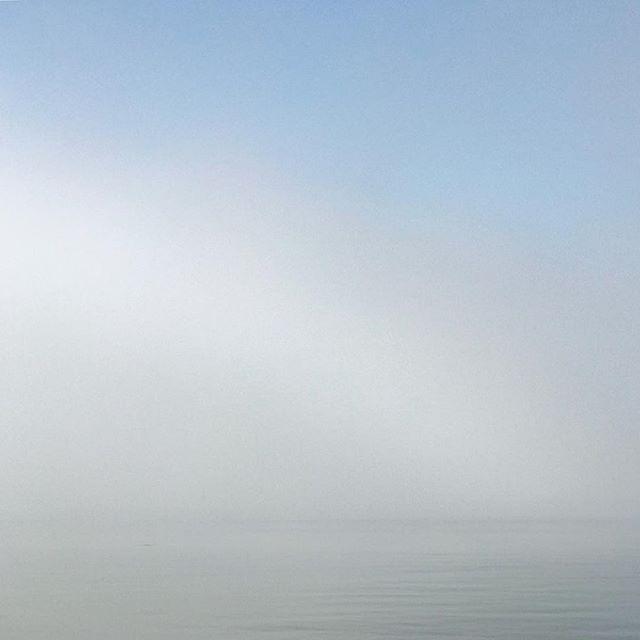 Beach #2 a foggy and still morning.  #elwood #elwoodbeach #blue #art #iphoneonly #shotoniphone
