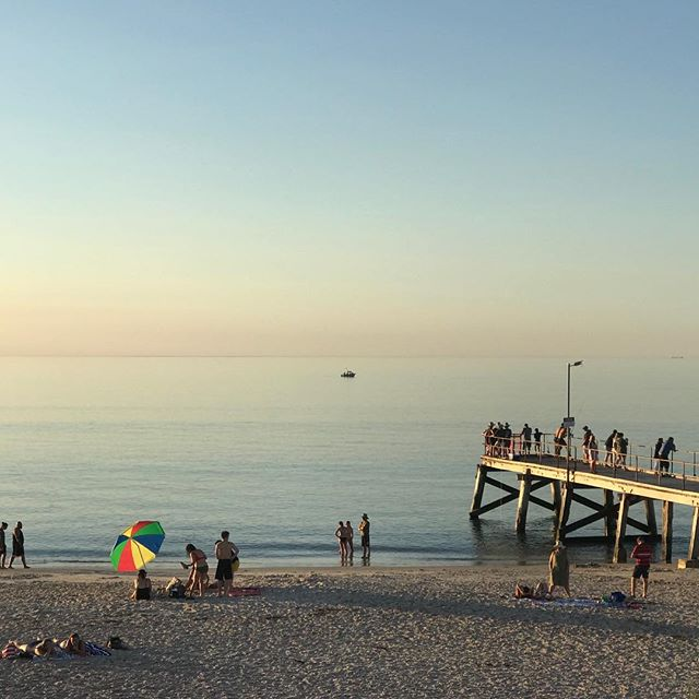 Beautiful South Australian beaches.  #tourismsa #australia #normanville #beach #art #summer #shotoniphone #iphoneonly #sunset