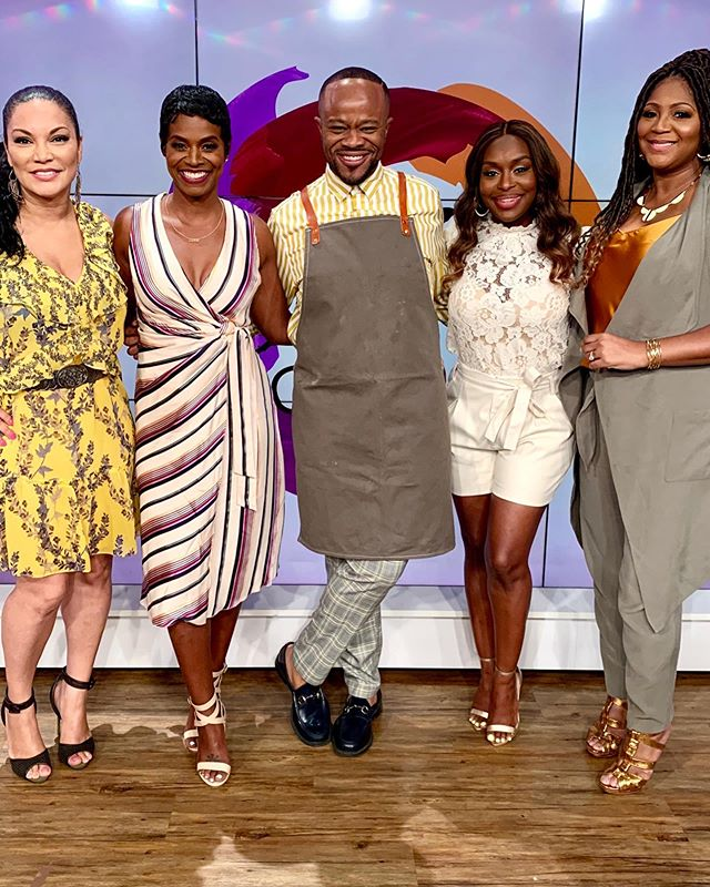 "I got all my sisters with me! Spent today's National Holiday down to ""The Circle"", @sistercircletv, with a few of my favorite girls. What's the holiday, you ask? Why the apron? Check out my story and hit the link in my bio!"
