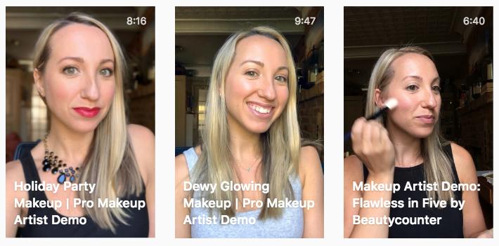 IGTV makeup artist tutorials and makeup demos