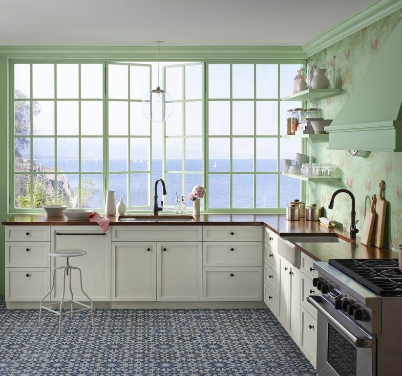 Bellera Kitchen Faucet 560,Riverby Sink 5871-5UA3, Whitehaven Sink 6489