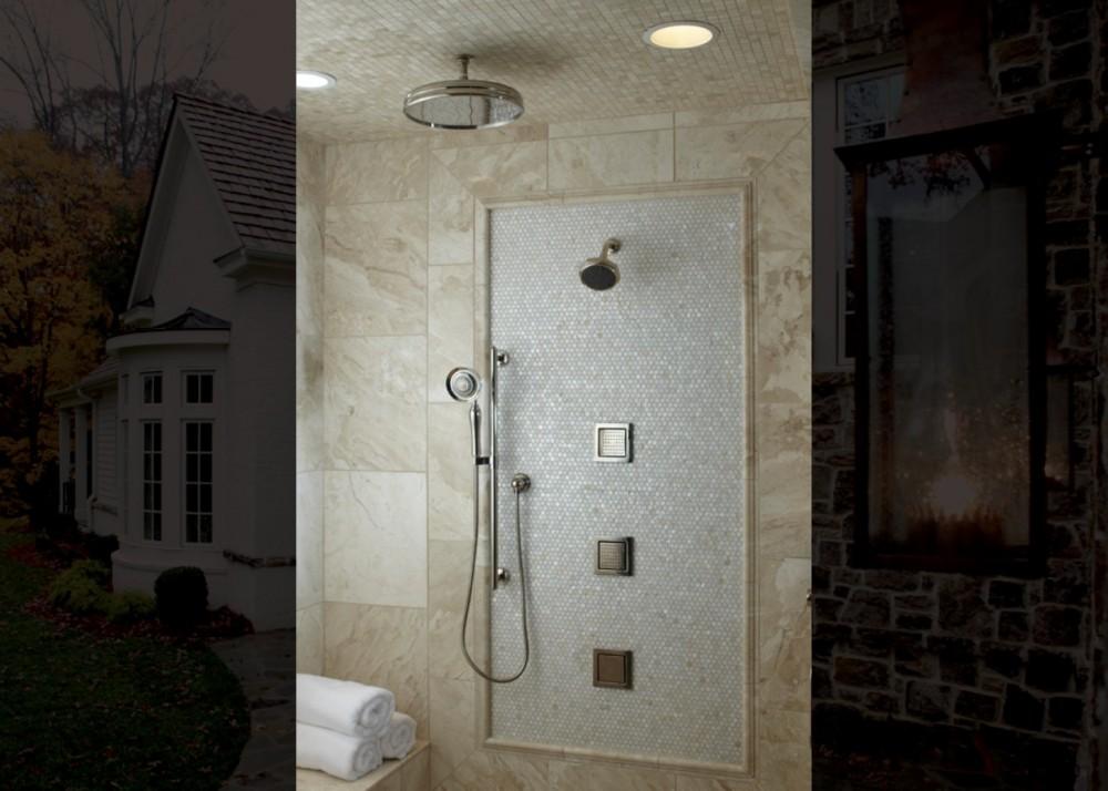 WaterTile Body Sprays 8002, Traditional Round Rainhead 13694