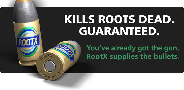 Root-X Kills Roots Dead, Backed By One Year Warranty