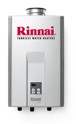 Rinnai tankless water heaters - residential and commercial service and installation. We can help if your tankles water heater is leaking, not working, making no hot water, or just needs routine cleaning or service.