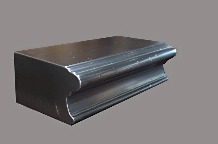 Distressed Aluminum Metal Edge Profile