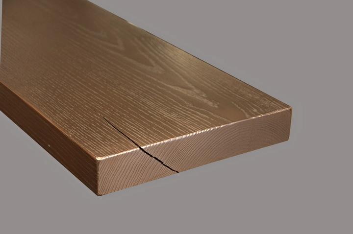 Copper Countertop Wood Grain Texture