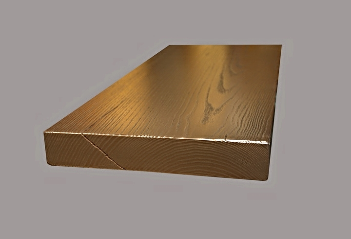 Copper Countertop with Wood Grain Texture