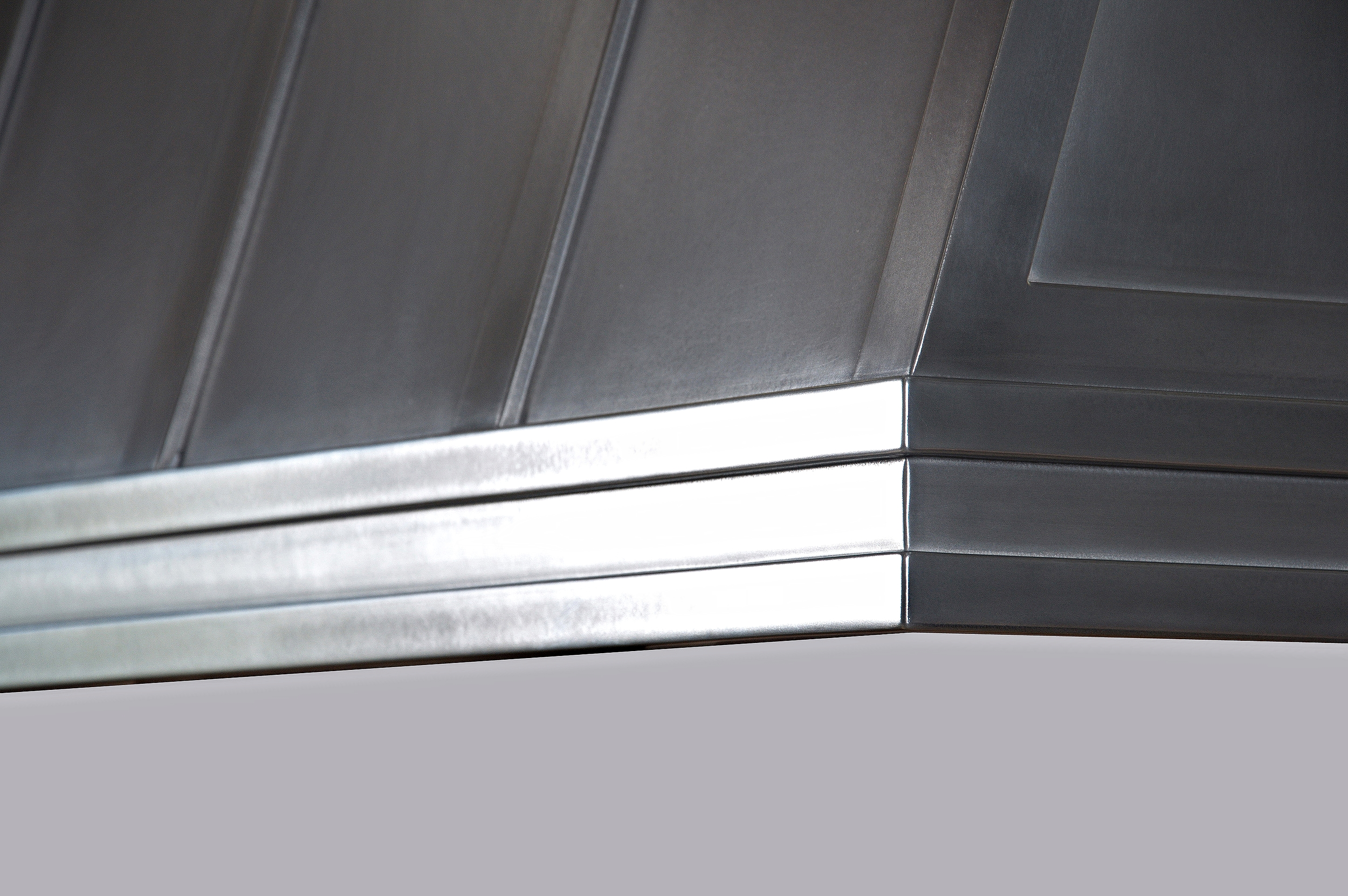 Metal Range Hood Shell Close-Up