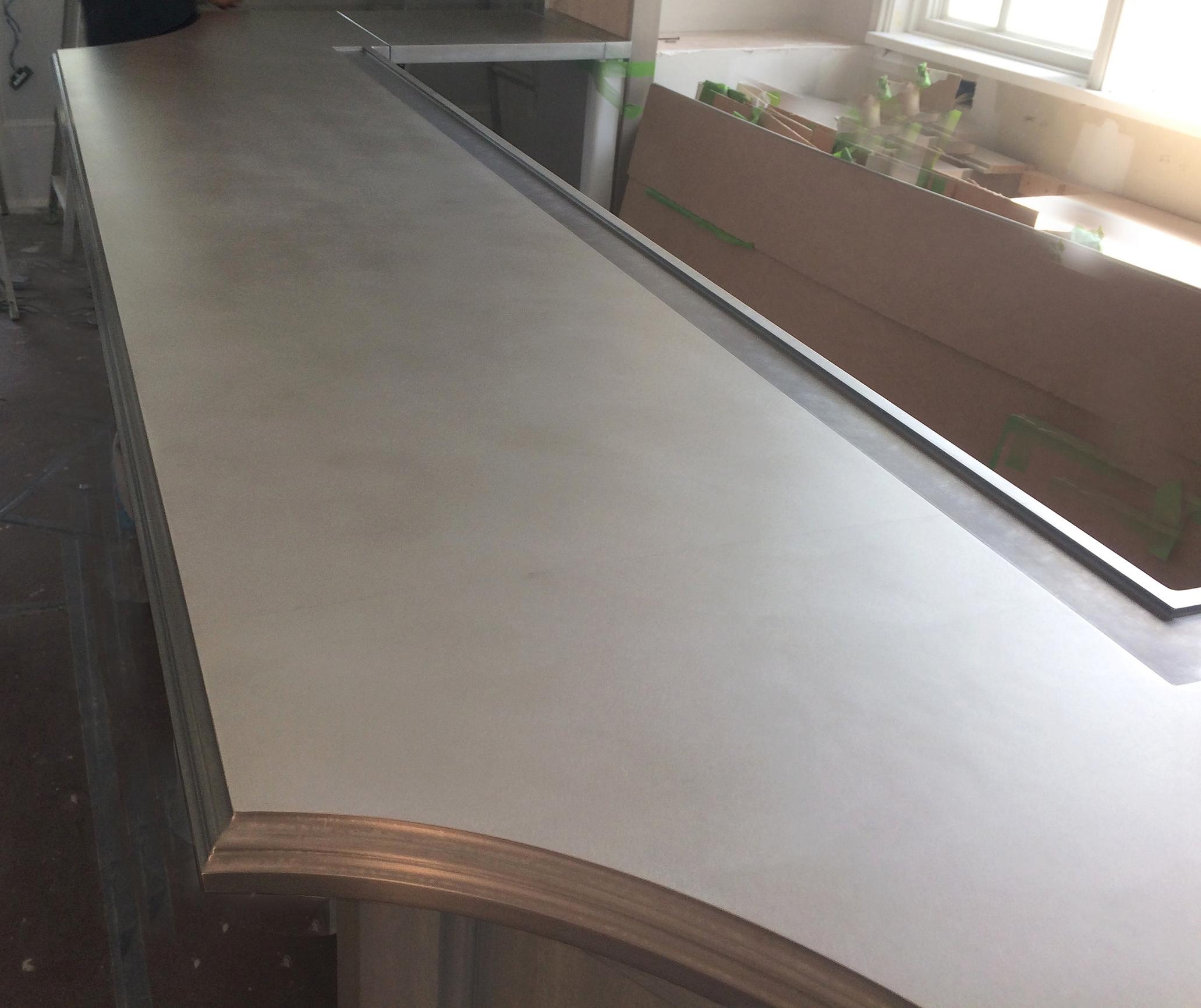 Zinc Commercial Bar Top