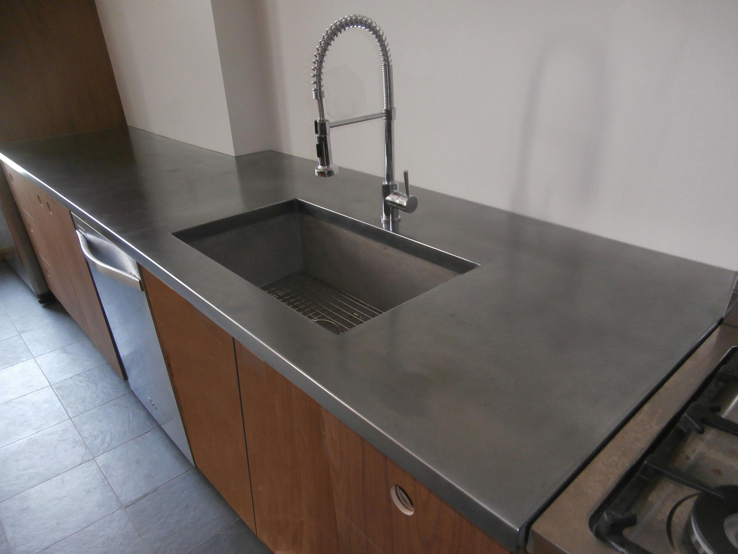 Stainless Steel Artisan Cast Metal Countertop
