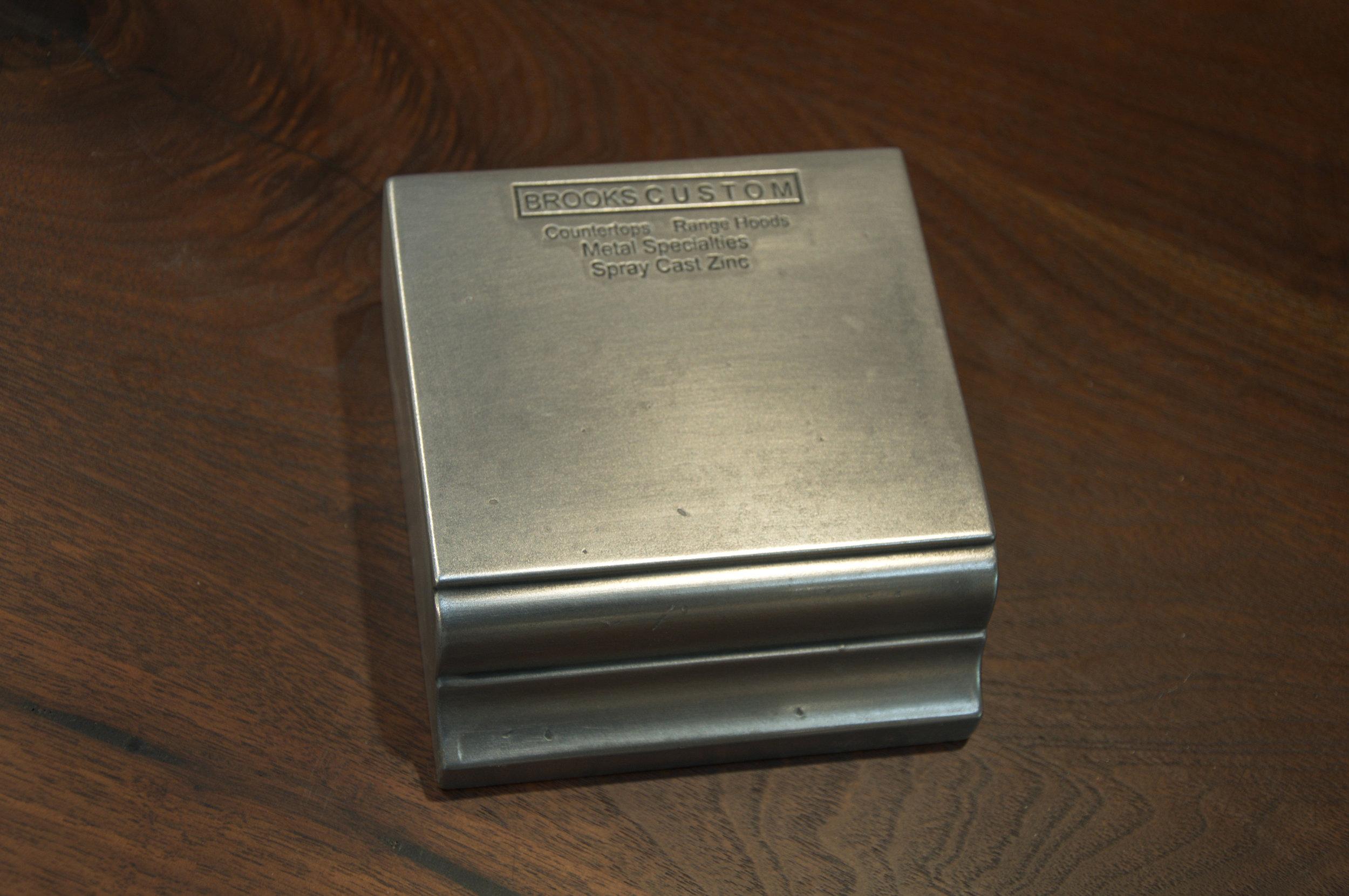Zinc Metal Finish Sample