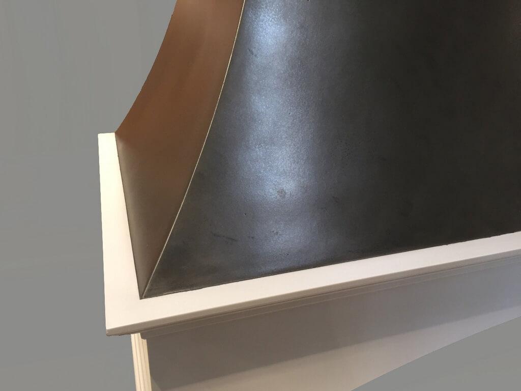 Metal Range Hood Closeup