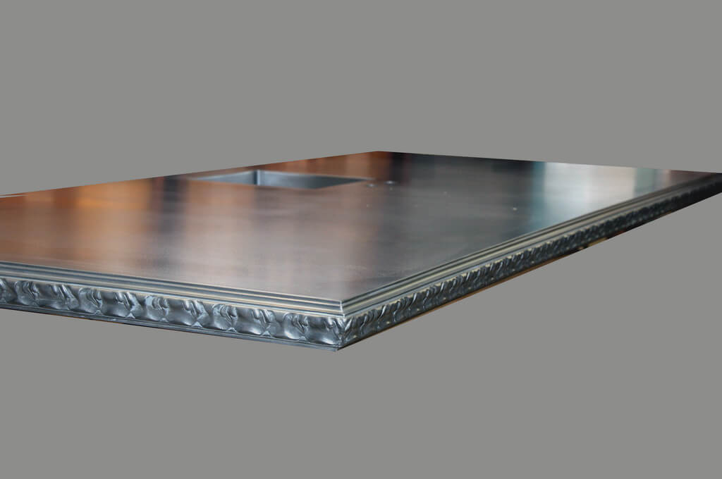 Pewter Countertop with Acanthus Edge