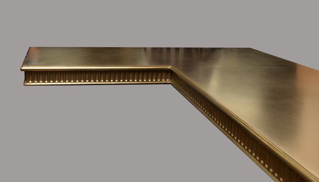 Brass Artisan Cast Commercial Bar Top