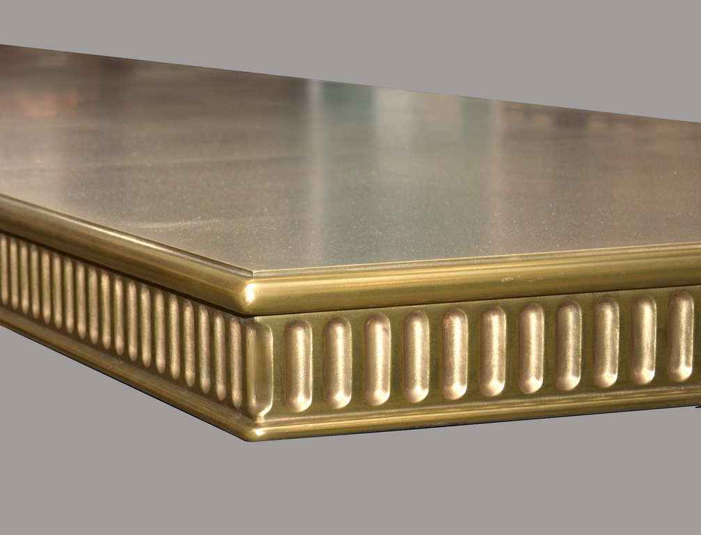 Brass Commercial Bar Top with Corinthian Edge