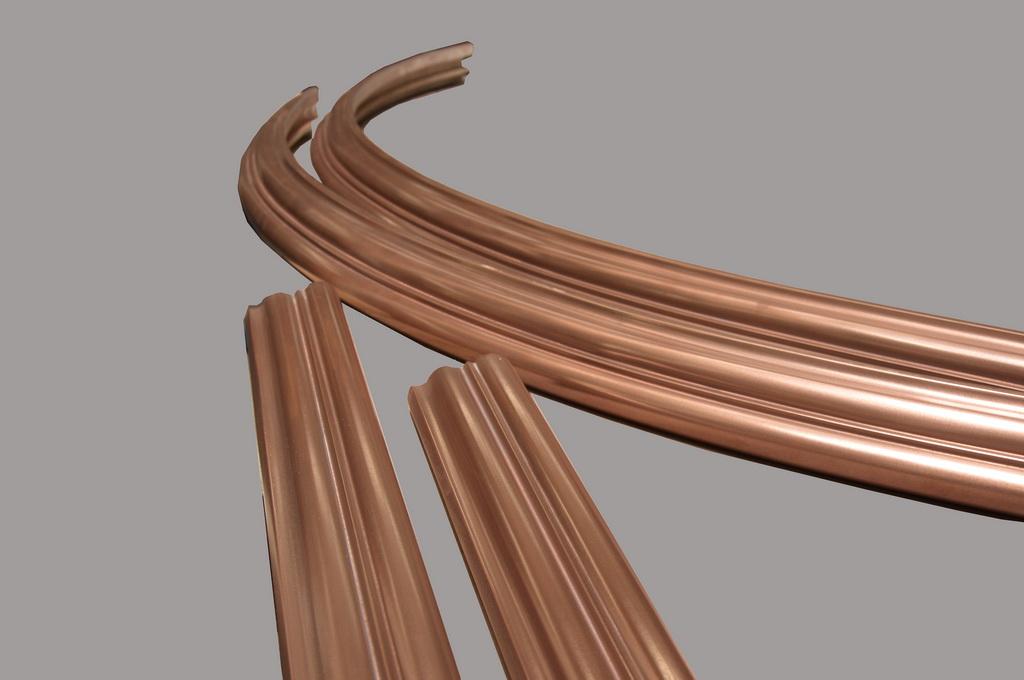 Copper Bar Rails for Commercial Bar Top