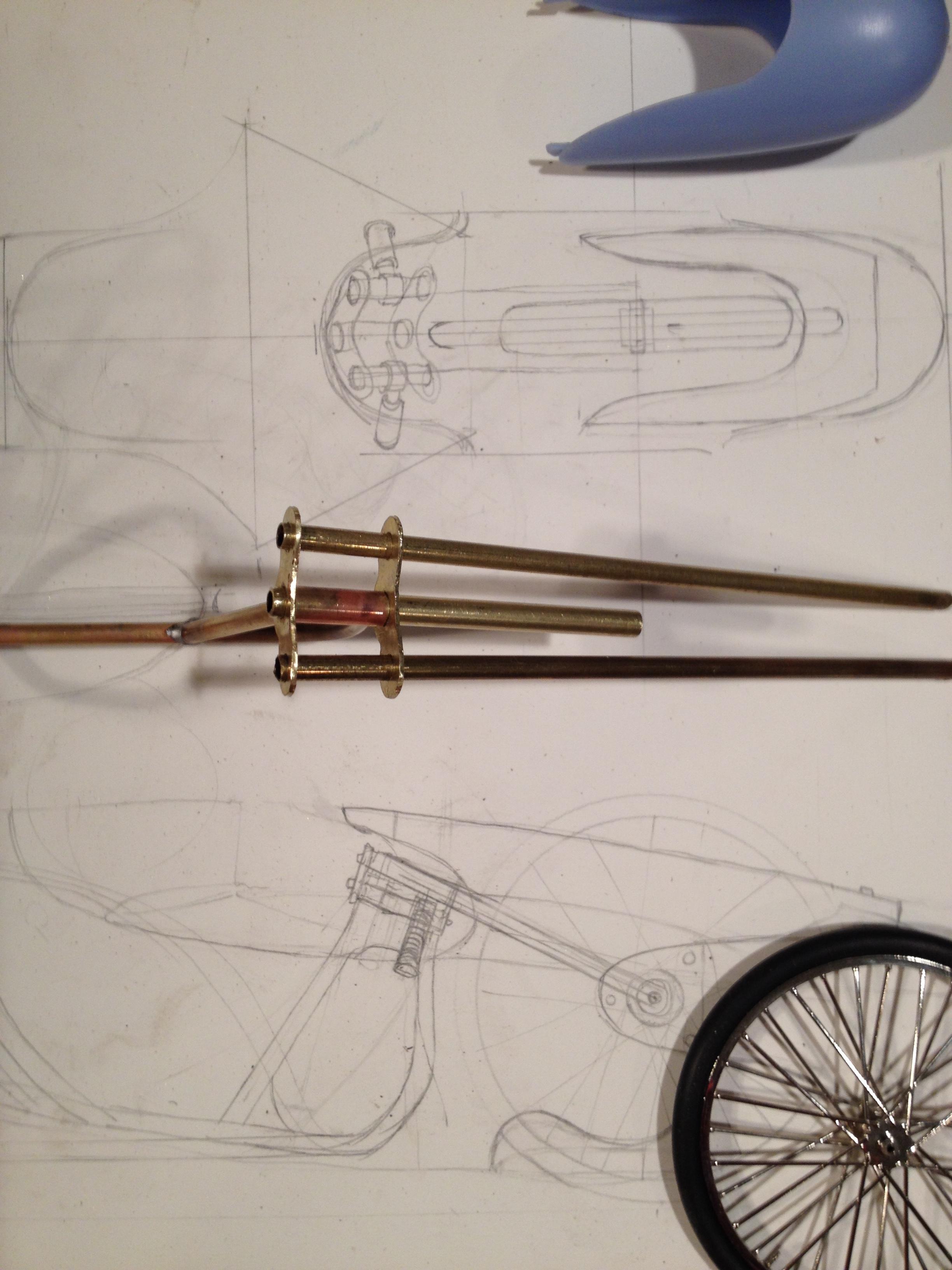 soldering the front fork