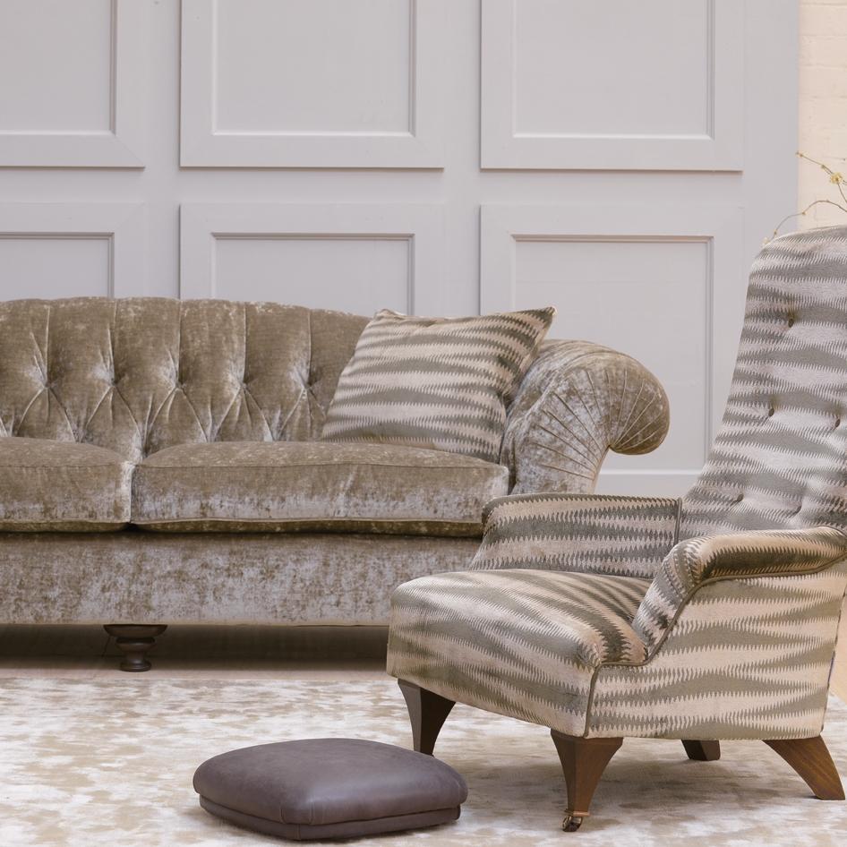 Bloomsbury Sofa in Borghese Velvet Linen with Hawthorne Chair.jpg