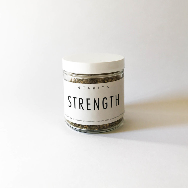 Strength is the catalyst to the body's natural immune system. Revitalize and uplift yourself by revving up your digestive and metabolic fire within. This warming and soothing ginger blend is designed to comfort and nurture you when you need it most.