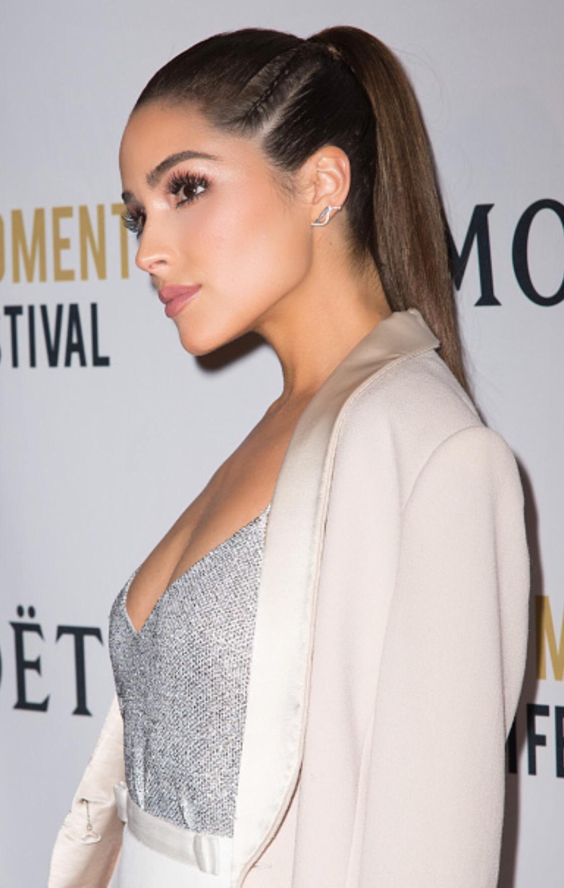 Olivia Culpo Side Braid