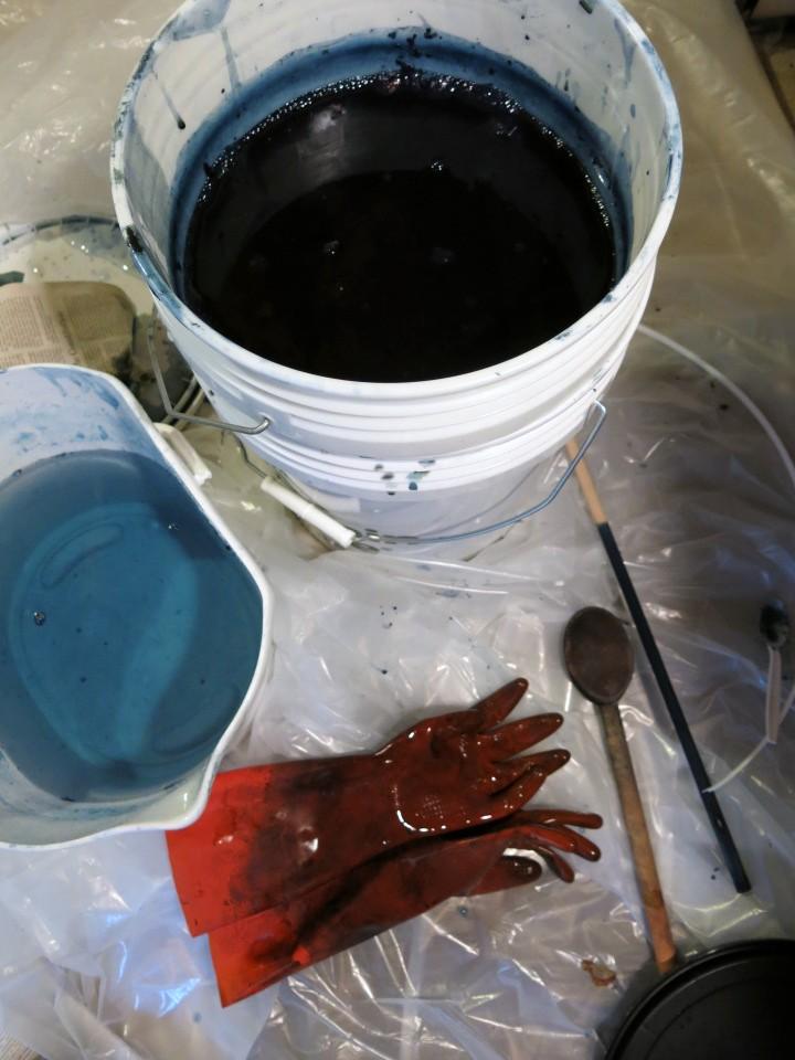 My lovely organic indigo vat