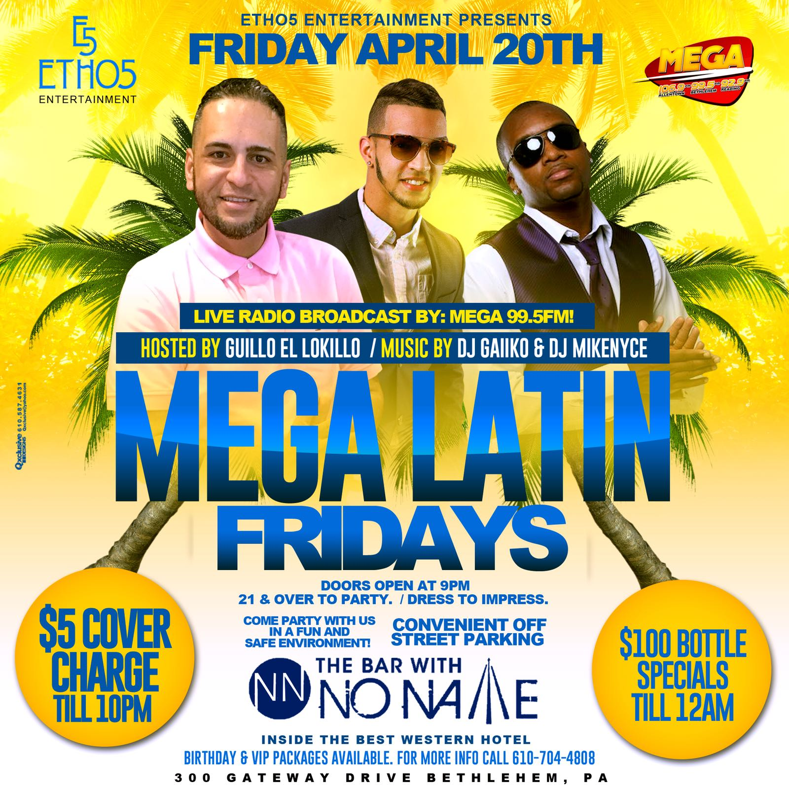 MEGA Latin Fridays at the Bar with No Name
