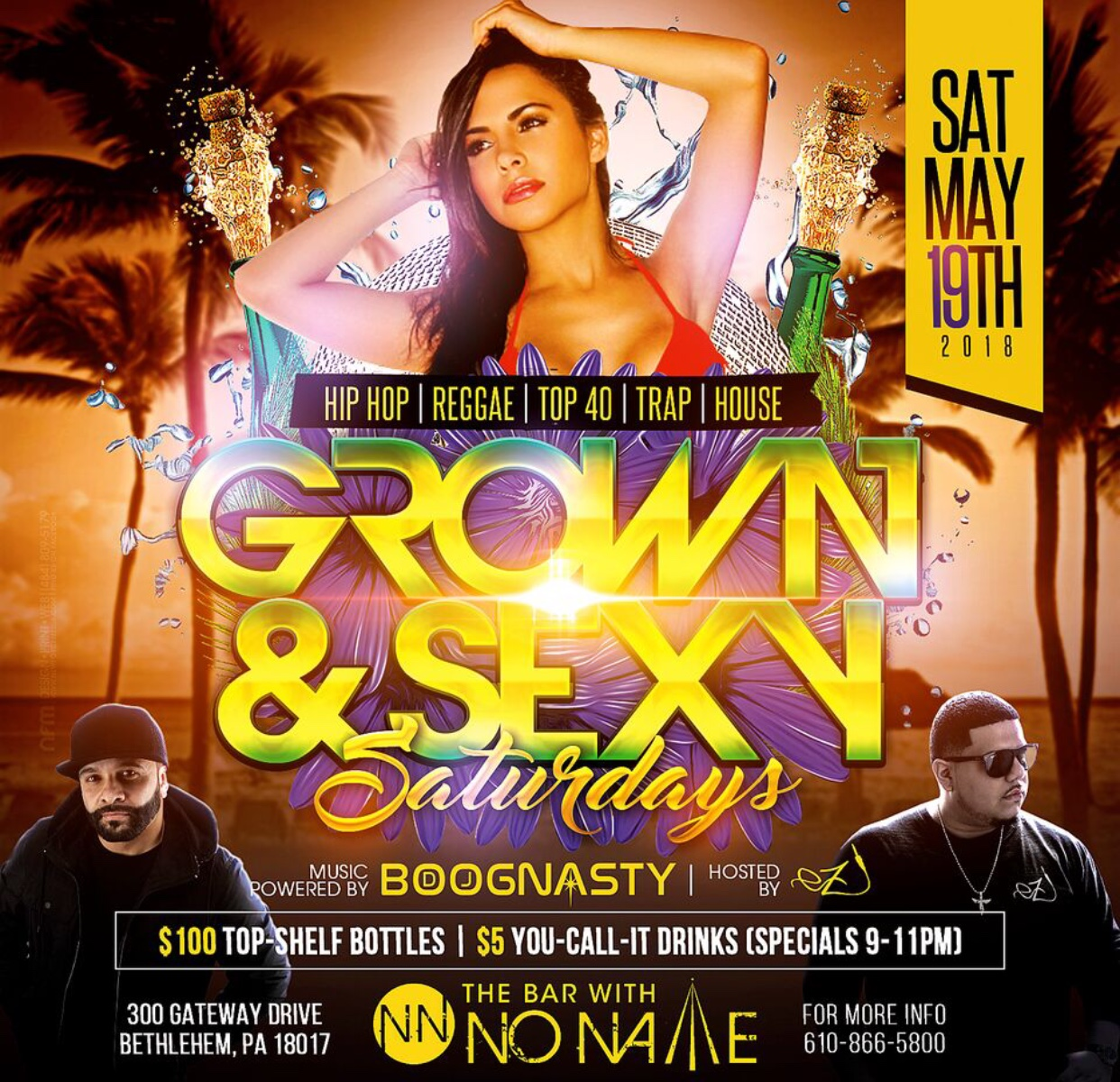 Grown and Sexy Saturdays with DJ Boognasty