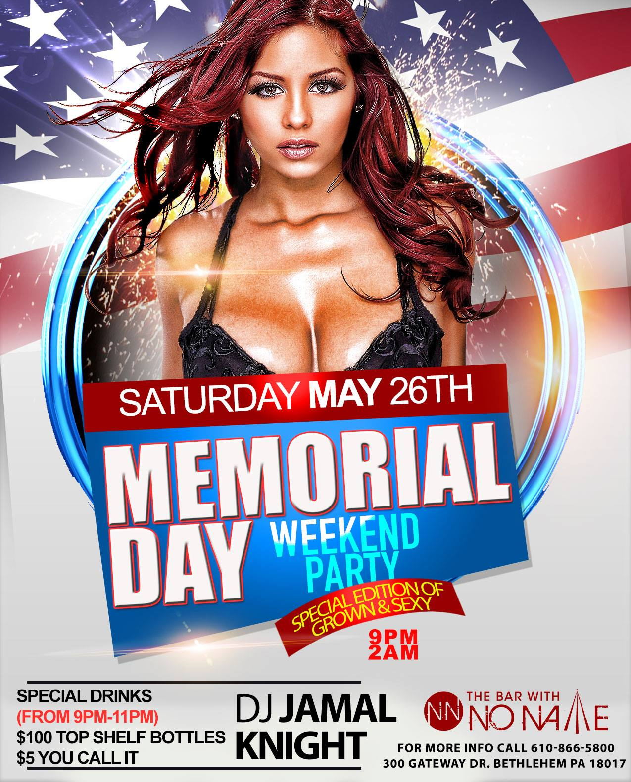 Memorial Day Weekend Party Special Edition of Grown and Sexy