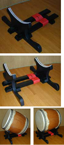 Tataibayashi / Miyake Convertible Stand    $340.00   (This stand converts to allow both an angled and horizontal playing surface)