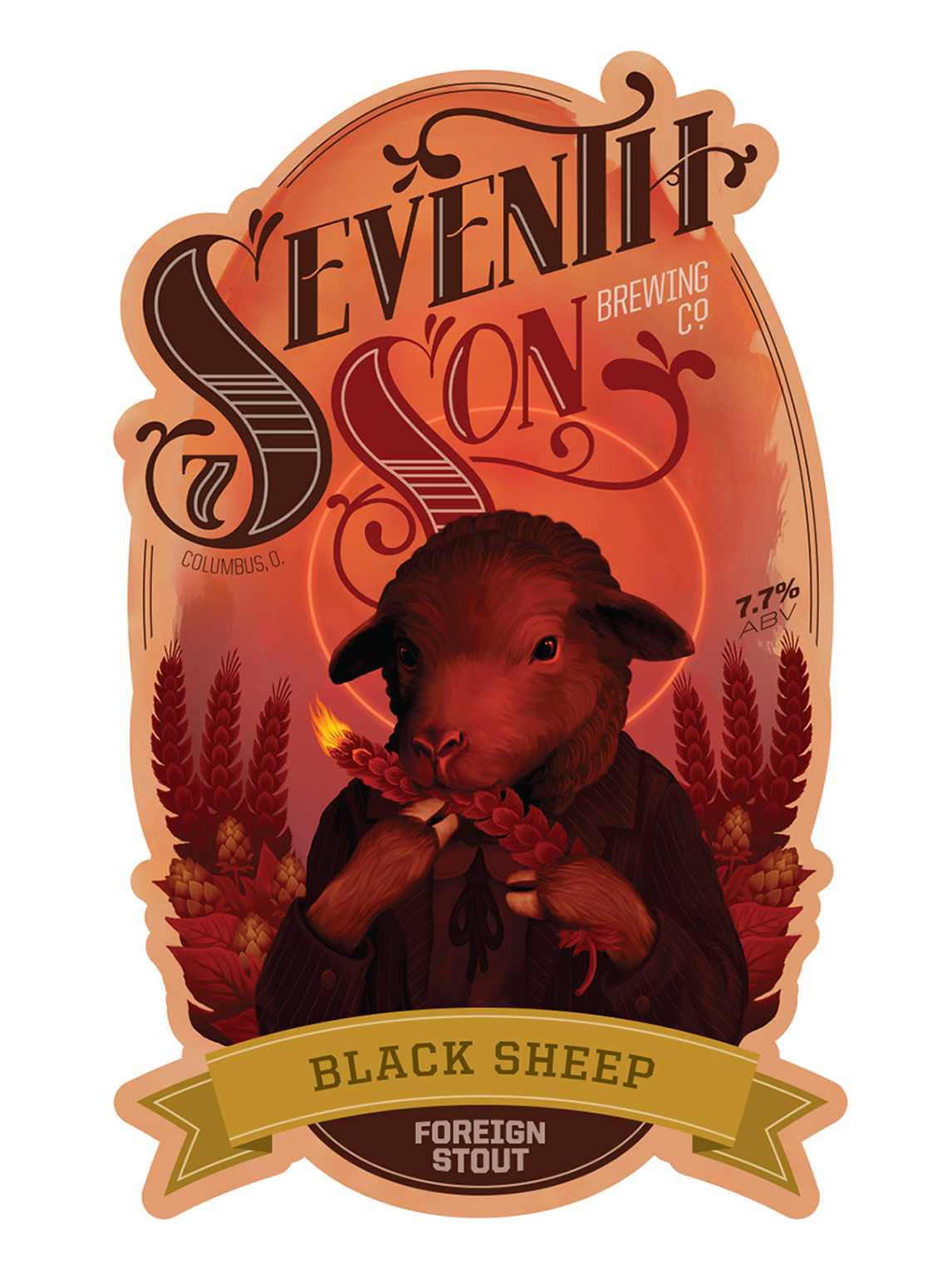 Seventh Son Brewing Co.  - Label Concept - 2011