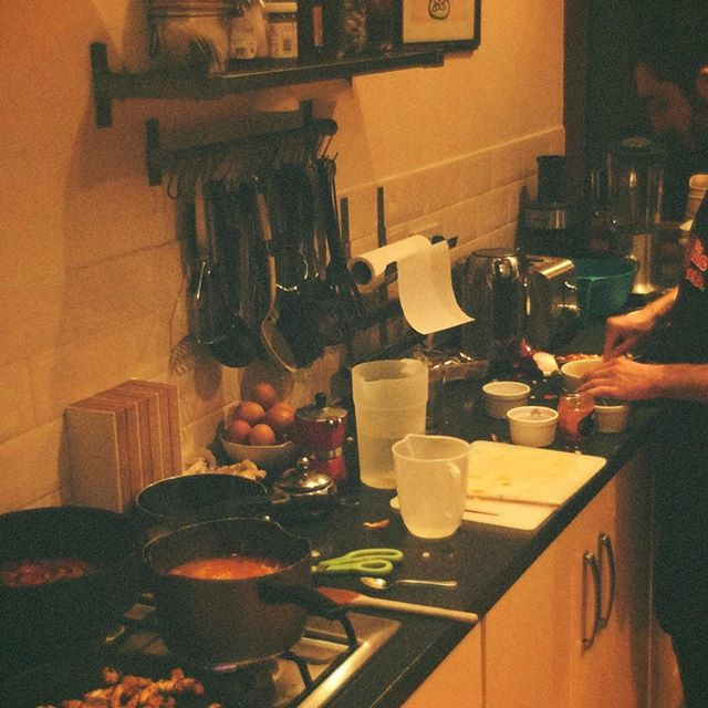 Cooking up tacos and big snare tunes this evening x  See you some time in the future xx