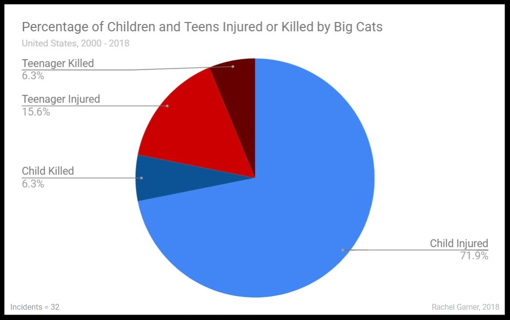 Figure 20. Minors Injured or Killed by Big Cats - All Settings