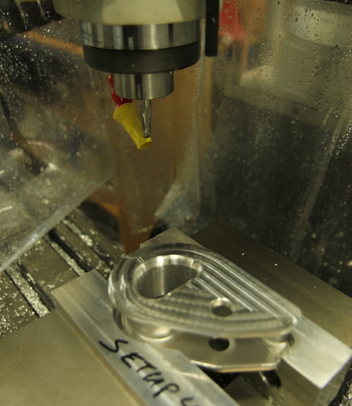 RamLock being machined from a single block of aluminum.