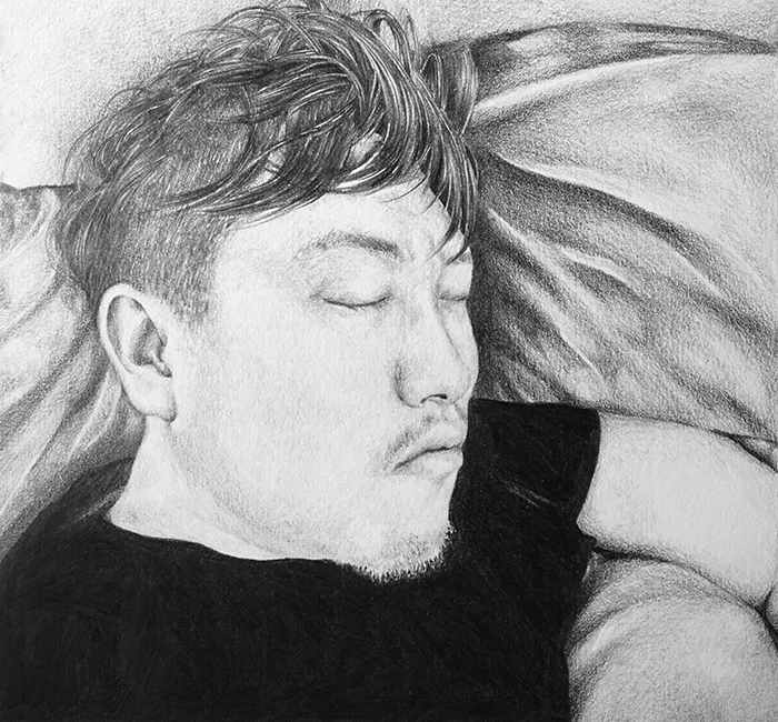 sayang  a gift for my love  pencil on paper january 2015