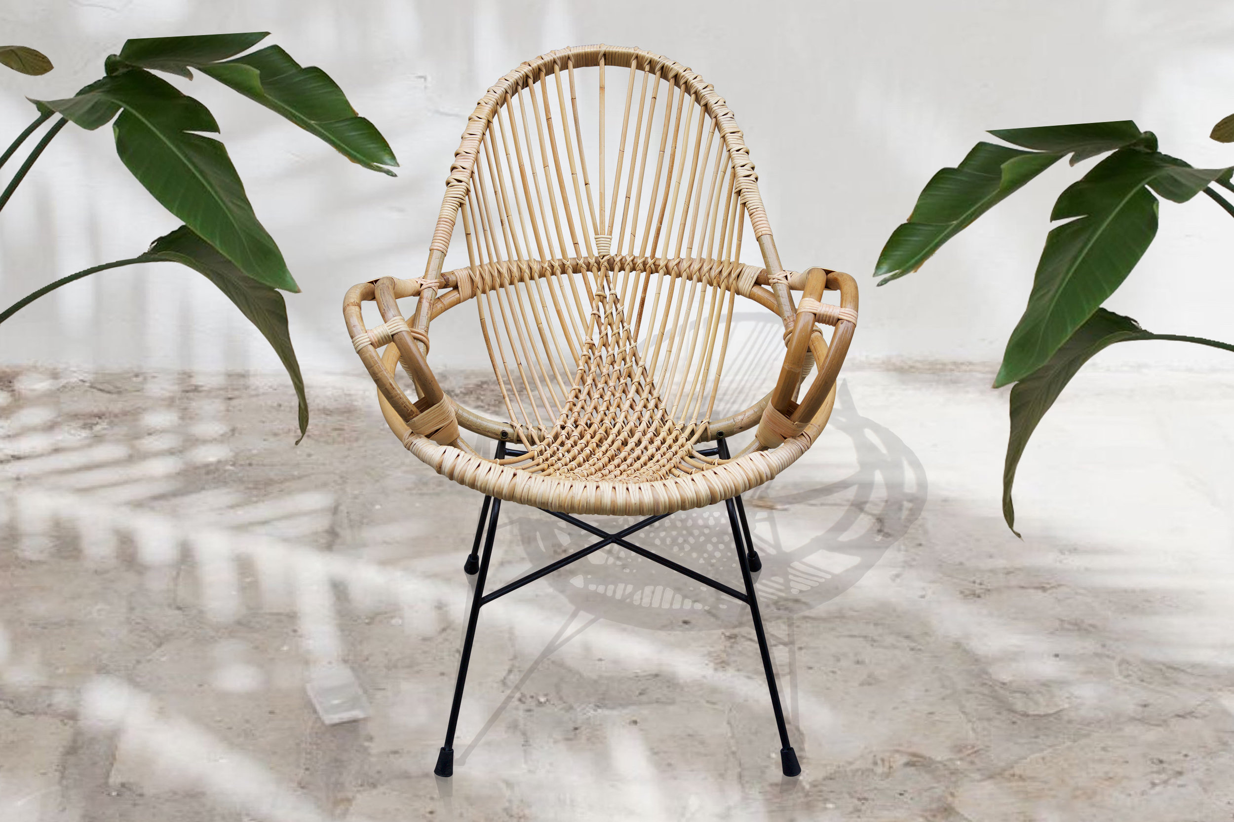 Outdoor Diamond Rattan Chair