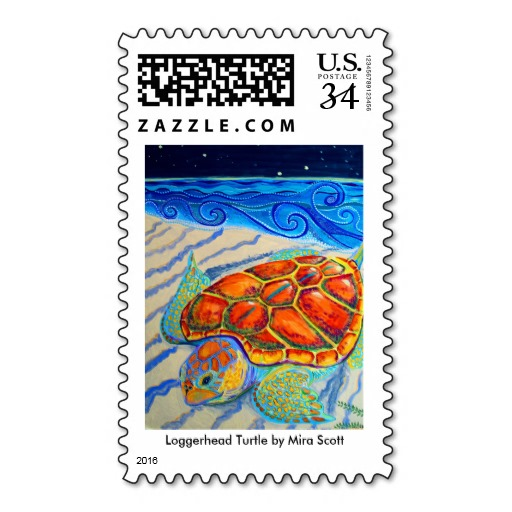 Shown here as a postcard stamp