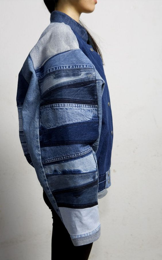 Recycled vintage denim by Berlin based brand Fade Out - a unisex clothing ad accessories brand made from up cycled denim