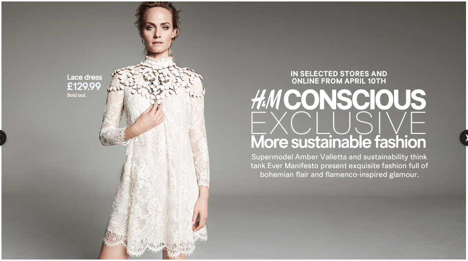H&M Conscious Collection makes clothing from recycled polyester and organic materials to minimise environmental damage.