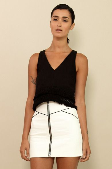 In love with DR vegan leather white skirt yet?