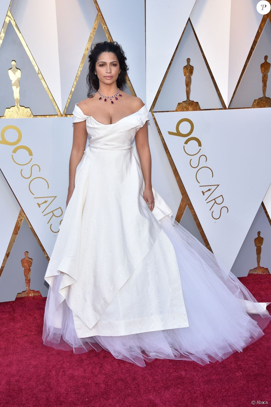 The beautiful Camilla Alves Mcconaughey in a Vivienne Westwood design made from archival silk that is ethically and sustainably crafted