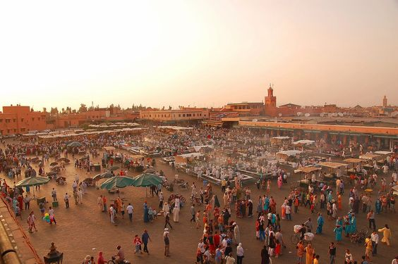 Jemaa El Fna Square, in the heart of Marrakech