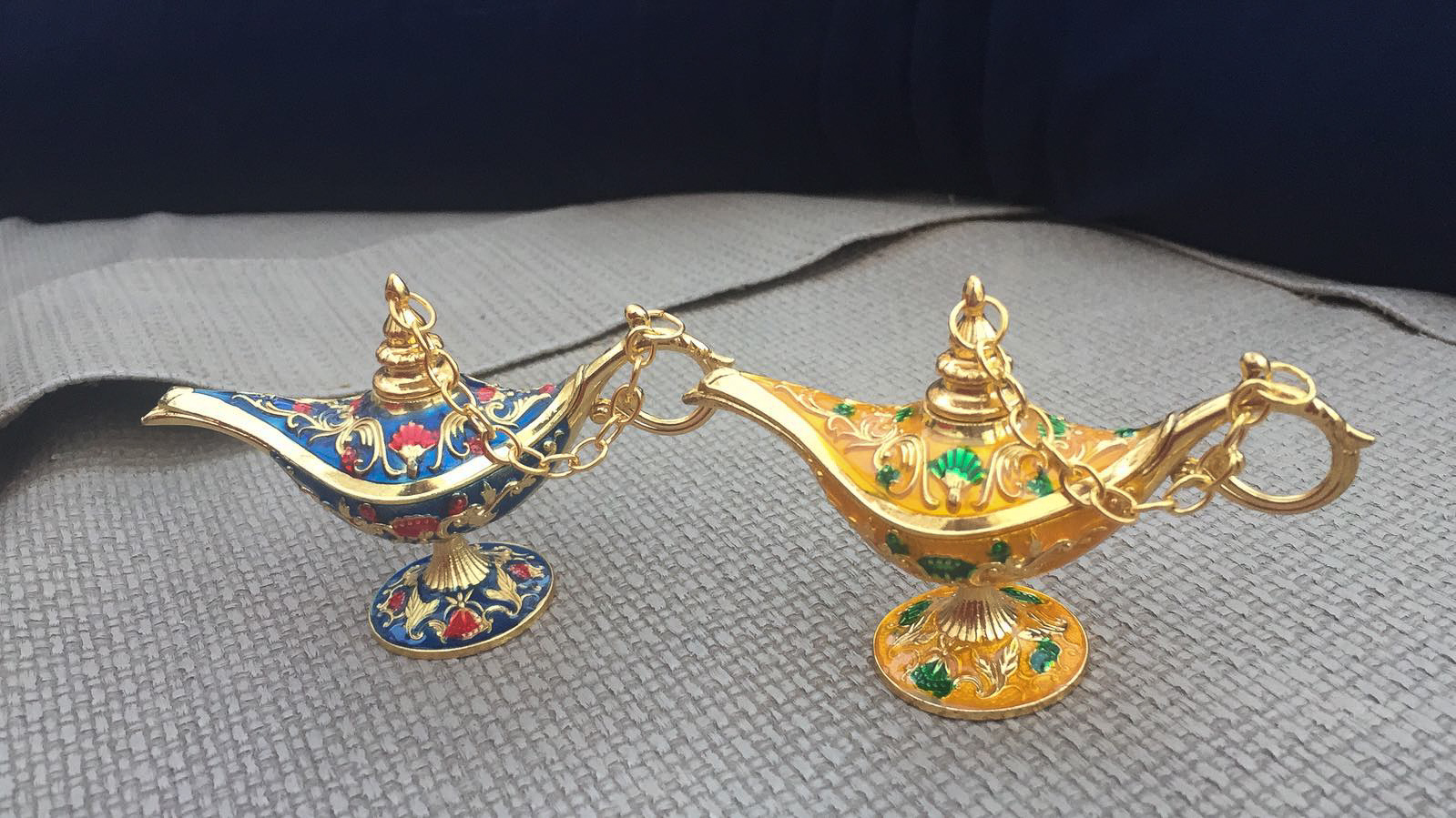 You can fill these little lamps with scented oils, bringing back a little bit of Morocco to your home