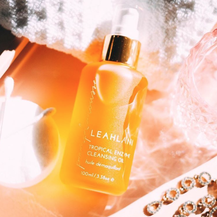 "Source: Citrine Instagram ""We are suckers for a great cleansing oil and this one from  @leahlaniskincare  is INCREDIBLE. This cleansing oil has invigorating notes of grapefruit, sweet vanilla bean, and exotic plumeria flowers. It entices your senses while dissolving oils, impurities, and removes makeup seamlessly. It works well on every skin type from the most delicate complexion to oily and acne prone skin."""