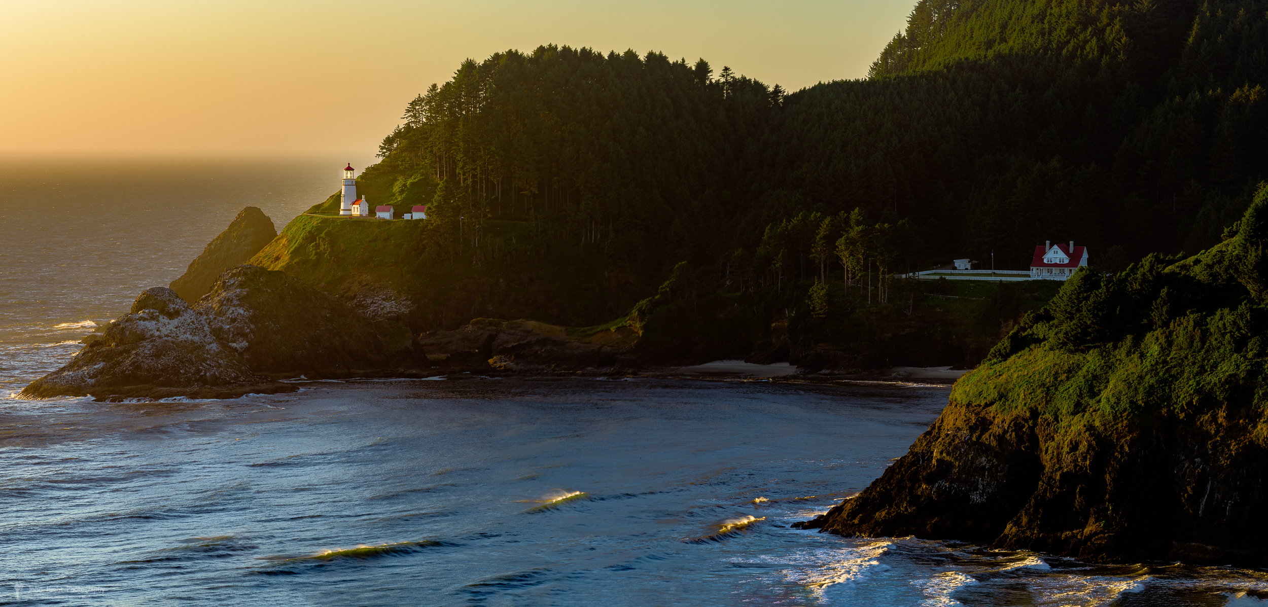 Heceta Head Lighthouse at Sunset