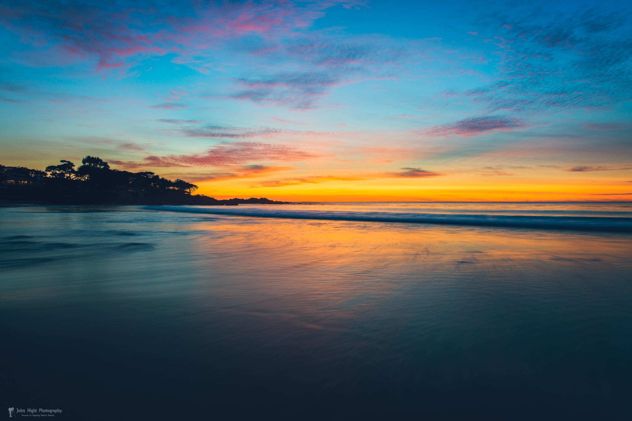 Blue Hour at Carmel, CA Beach